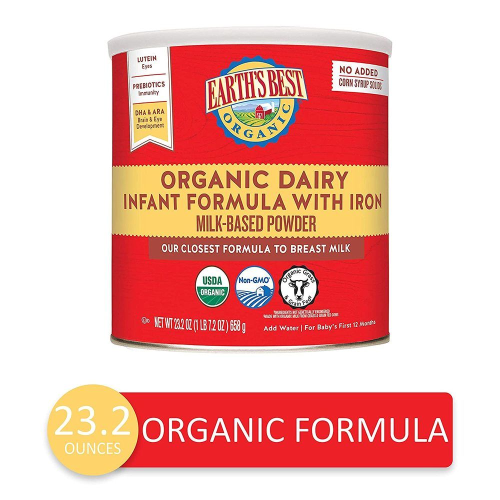 Earth's Best Dairy Organic Infant Formula