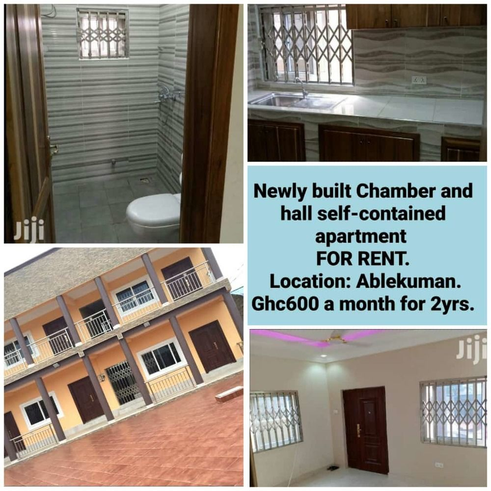 Apartment for rent Newly built Chamber and Hall self contained apartment for rent location Ablekuman ghs 600 per month for 2 year8