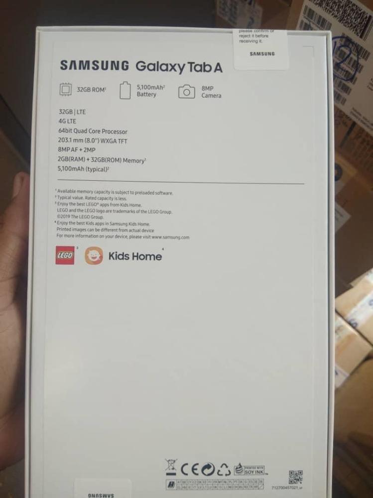 Samsung Tab A 2019 8.0inch 32inch