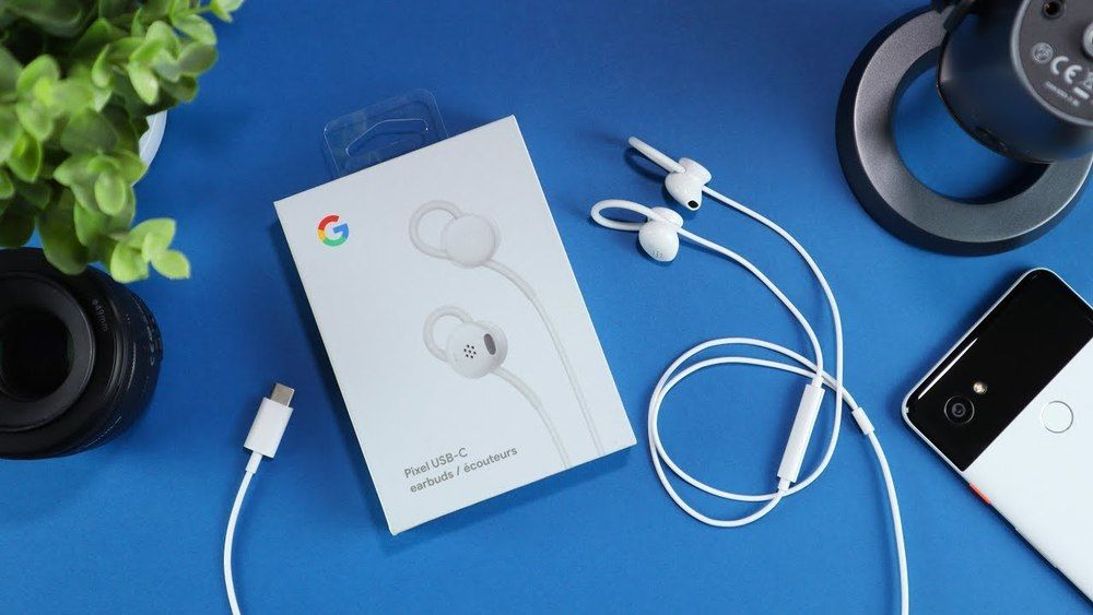 Google Earbuds USB-C Headset for Pixel Phones Supports Assistant